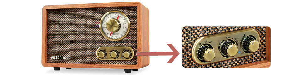 radio retro bluetooth vitrola oferplan