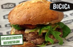 Completo menú de hamburguesa en Bococa