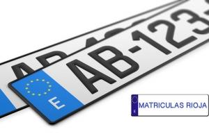 2 placas de matrícula de aluminio o acrílicas
