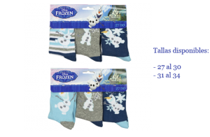 Disney Frozen, Pack 3 calcetines