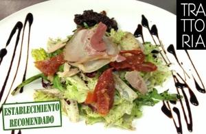 Exquisito menú italiano para 2, en La Trattoria