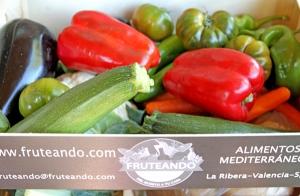 Caja de frutas, verduras o mandarinas